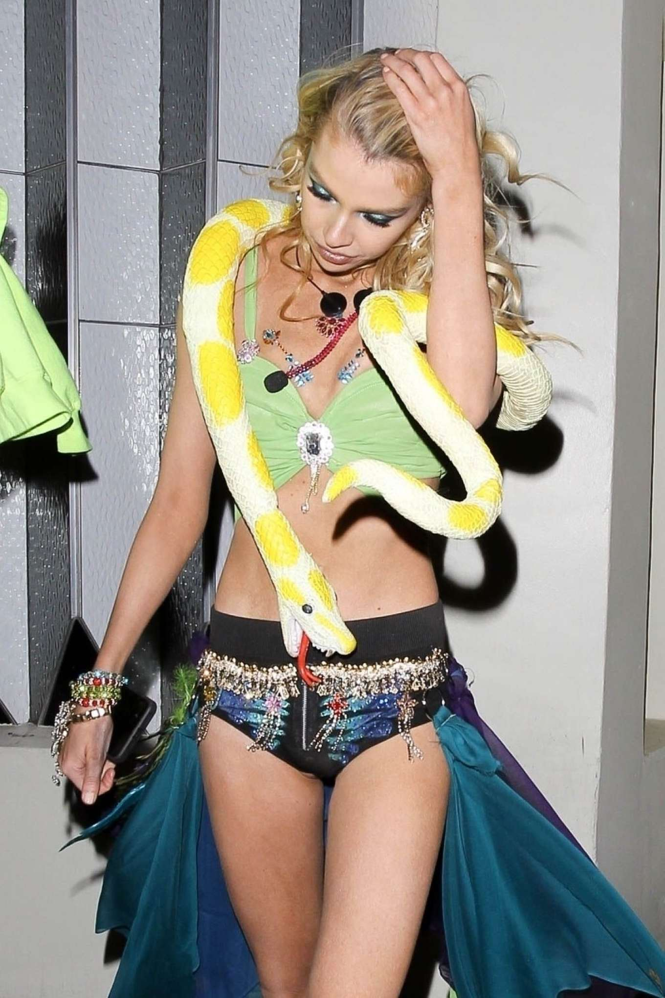 Stella Maxwell - Arrives at Drake's Halloween Party in West Hollywood