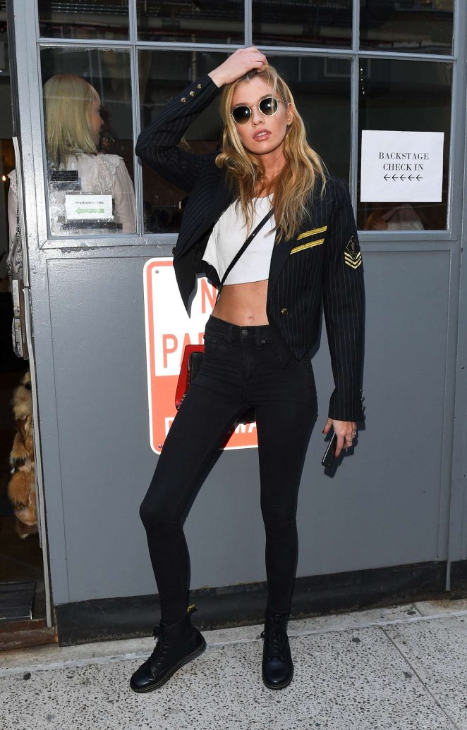 Stella Maxwell - Arrives at the Zadid and Voltaire Fashion Show in NYC