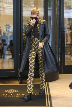 Stella Maxwell - Arriving at Versace special event in Milan