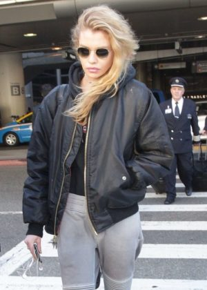 Stella Maxwell at LAX International Airport in Los Angeles