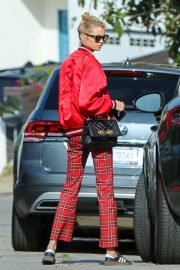 Stella Maxwell in Red Outfit - Out in LA
