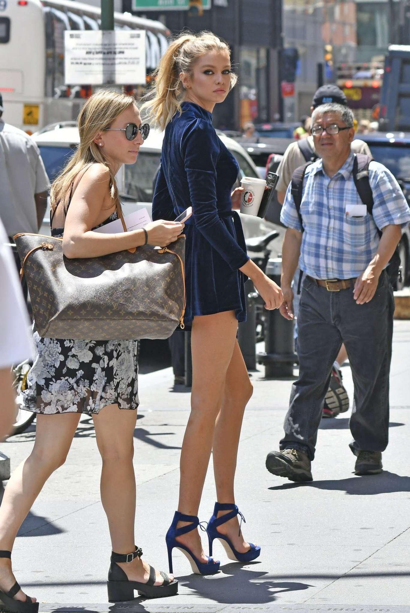 Stella Maxwell In Short Dress 03 Gotceleb