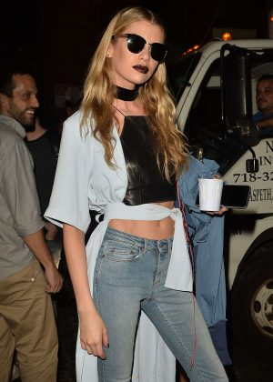 Stella Maxwell in Skinny Jeans out in New York