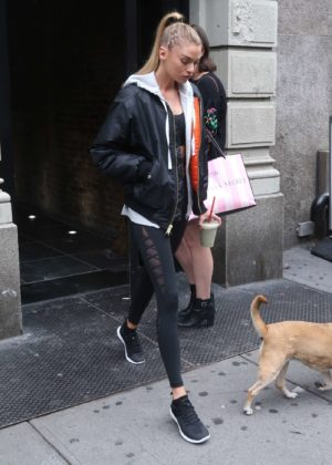 Stella Maxwell in Tights out and about in NYC