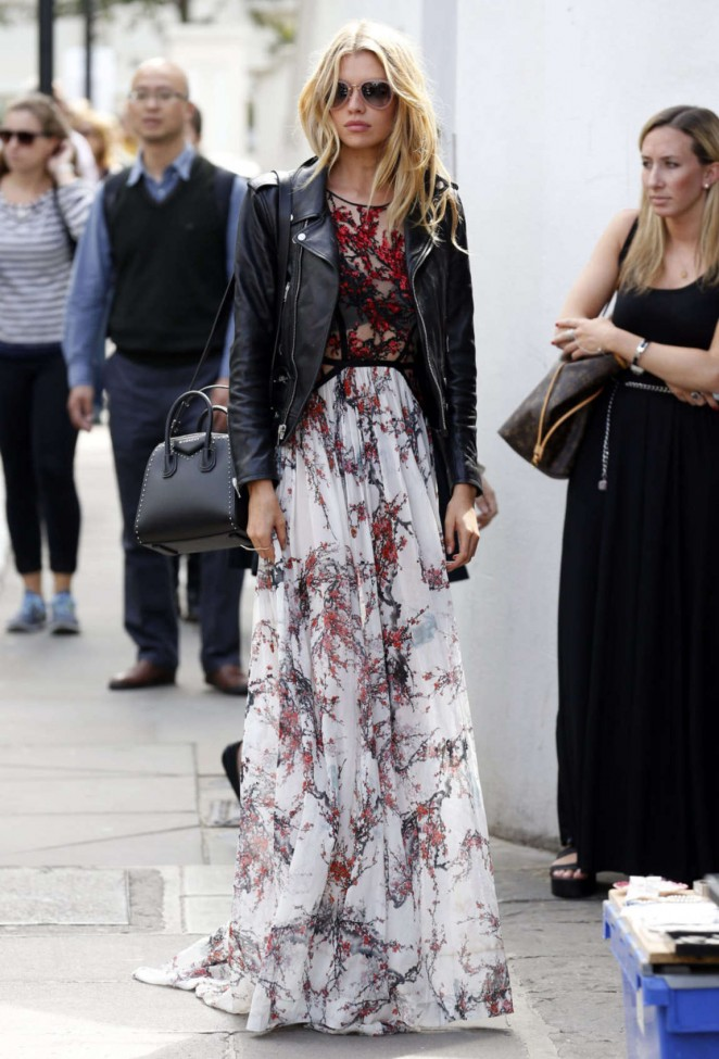 Stella Maxwell: Leaving Fortnum and Mason -05