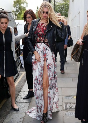 Stella Maxwell: Leaving Fortnum and Mason in London