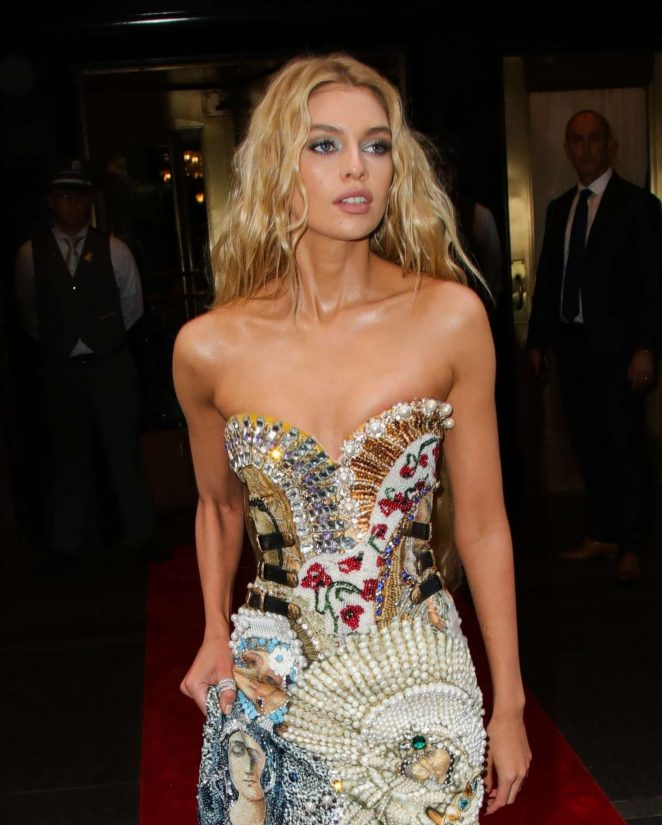 Stella Maxwell - Leaving the Carlyle Hotel to attend Met Gala in NYC