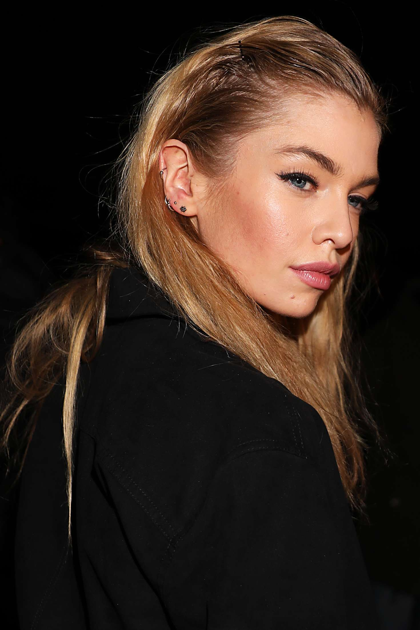 Stella Maxwell 2018 : Stella Maxwell: Leaving the Moschino Show in Milan -01