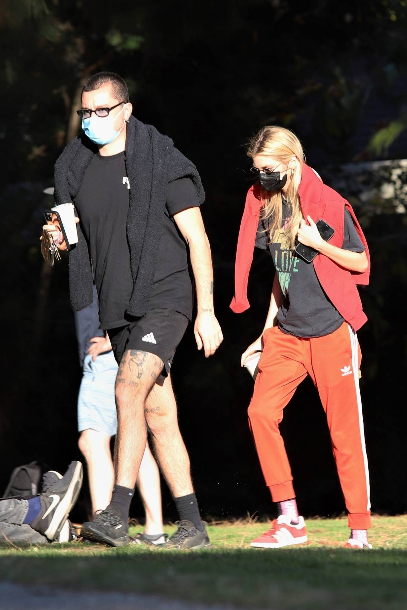 Stella Maxwell - Spotted at the park with a friend in Los Angeles