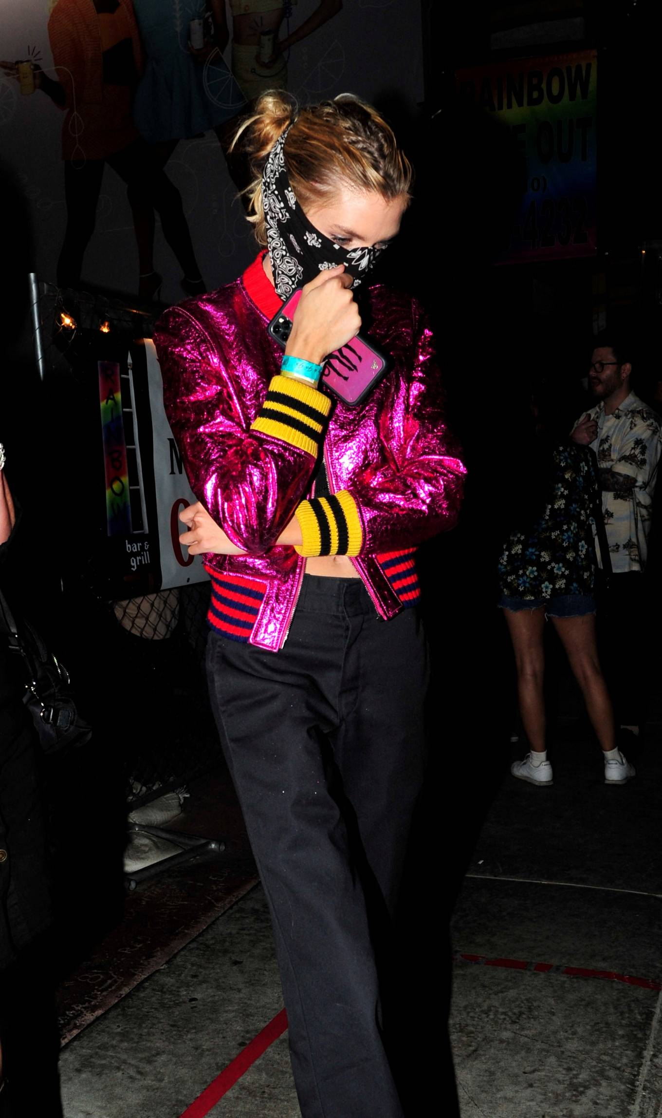 Stella Maxwell 2021 : Stella Maxwell – With Georgia May Jagger party at the Rainbow Bar and Grill in West Hollywood-09