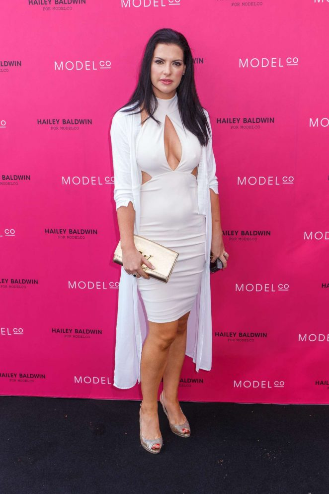 Steph Adams - VIP launch of the Hailey Baldwin for ModelCo Cosmetics Range in Sydney