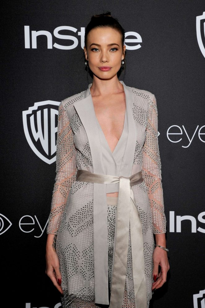 Stephanie Corneliussen - 2017 InStyle and Warner Bros Golden Globes After Party in LA