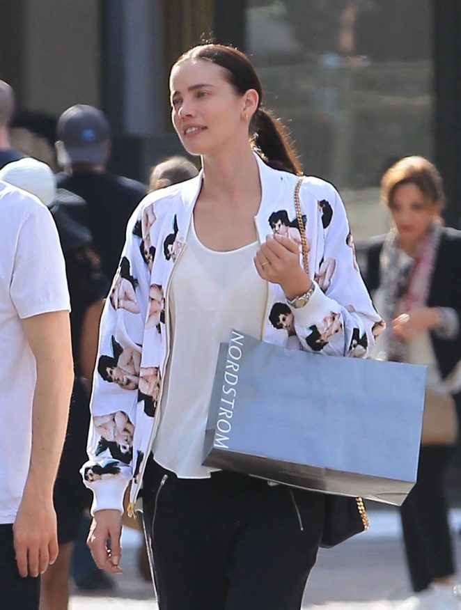 Stephanie Corneliussen Shopping at The Grove in Hollywood