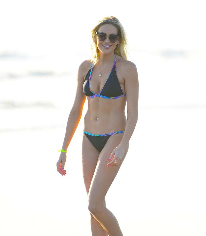 Stephanie Pratt in Bikini on the beach in Malibu