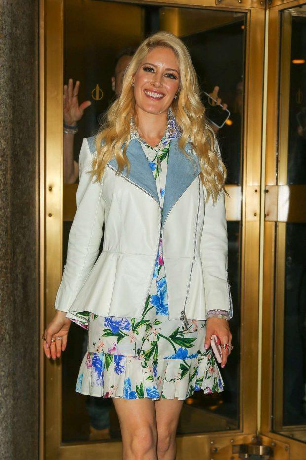 Stephanie Pratt in Floral Dress - Leaves her hotel in New York