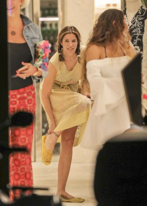 Stephanie Seymour - Shopping at Dolce & Gabbana Store in St Barth