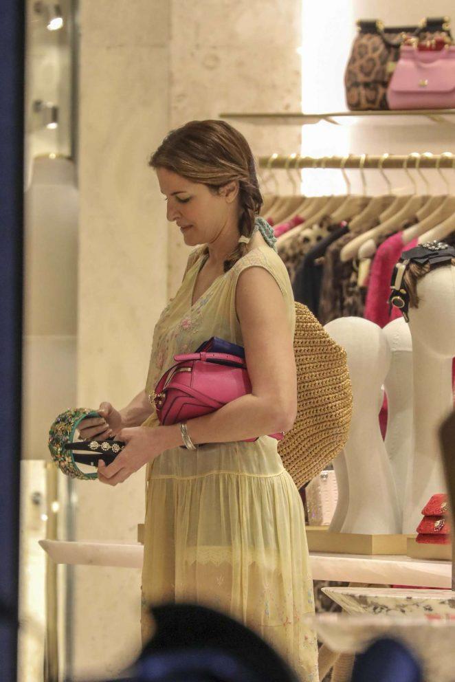 Stephanie Seymour: Shopping at Dolce & Gabbana Store -07 ...