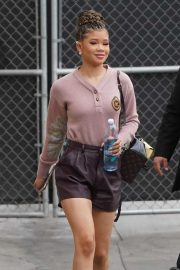 Storm Reid - Arriving at 'Jimmy Kimmel Live!' in Hollywood