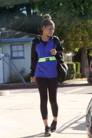 Storm Reid in Tights - Out in Los Angeles