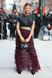 Storm Reid - Seen At Longchamp during New York Fashion Week in New York City