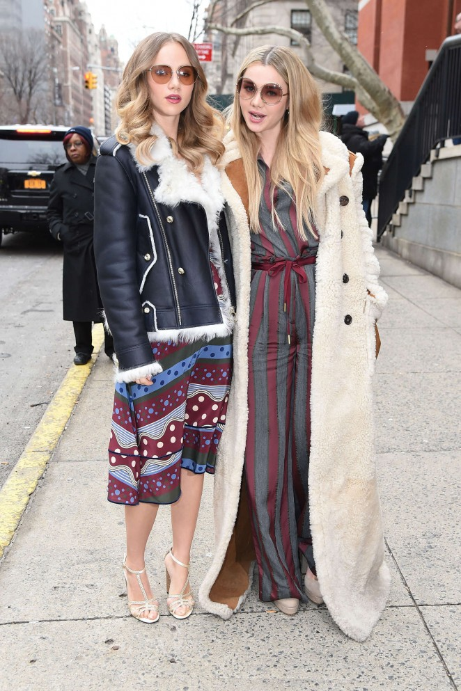 Suki and Immy Waterhouse - Arriving at Tommy Hilfiger 2016 Fashion Show in NYC