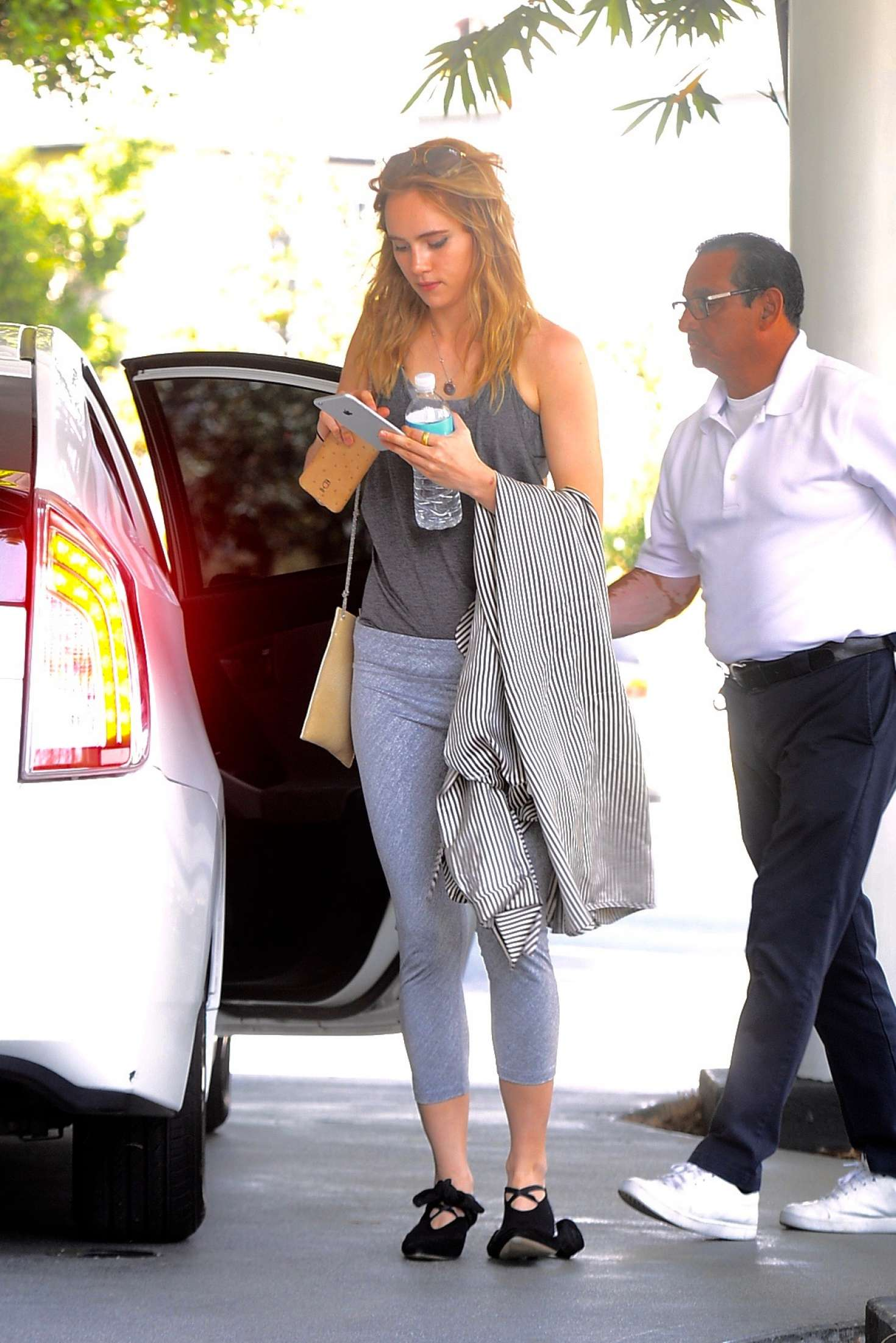 Suki Waterhouse after a workout in Beverly Hills