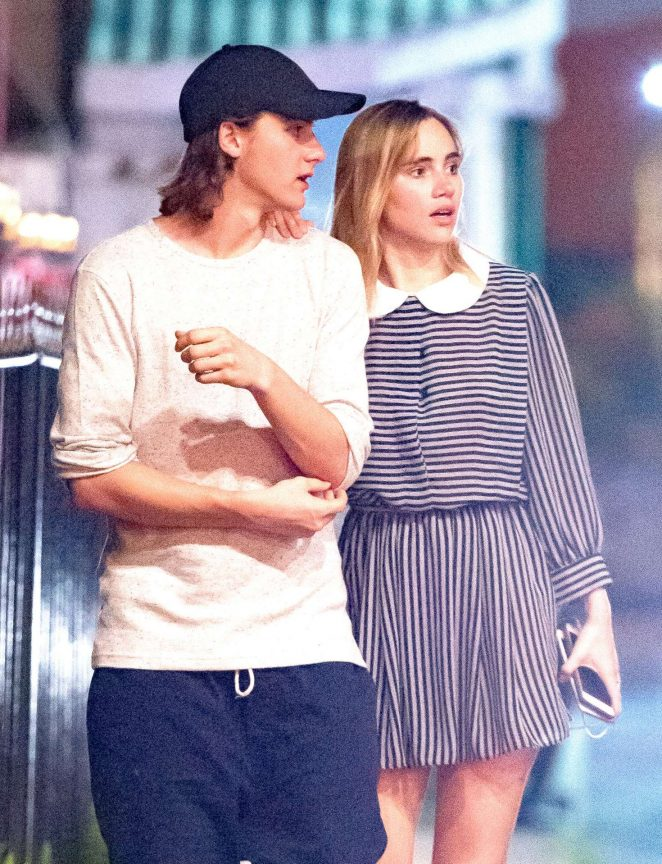 Suki Waterhouse and her brother Charlie out in Barbados