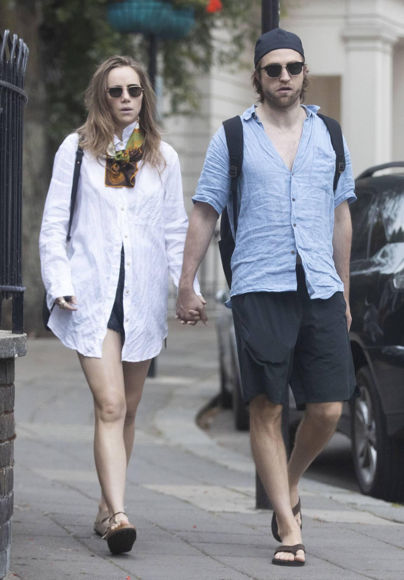 Suki Waterhouse 2020 : Suki Waterhouse and Robert Pattinson – Out in London-04