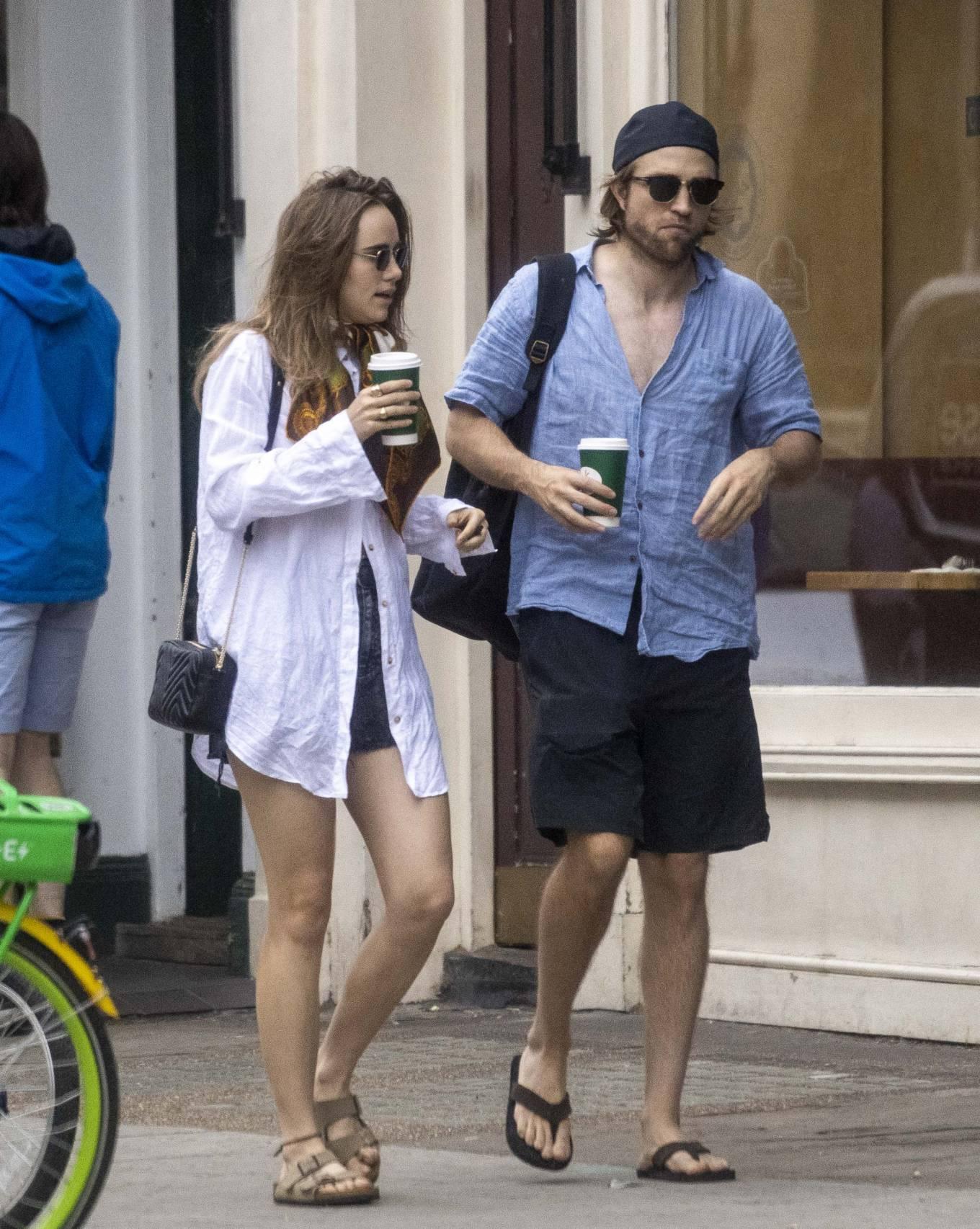 Suki Waterhouse 2020 : Suki Waterhouse and Robert Pattinson – Out in London-24