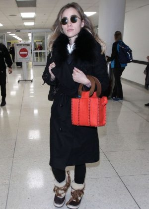 Suki Waterhouse - Arriving at LAX Airport in LA