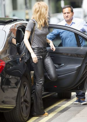 Suki Waterhouse Arriving at the Edition Hotel in London