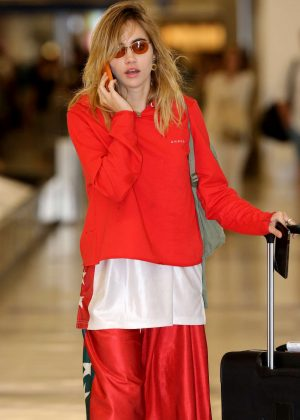 Suki Waterhouse at LAX Airport in LA