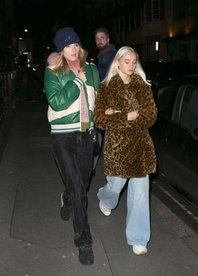 Suki Waterhouse at the Mandrake Hotel in London