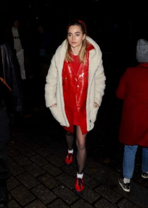 Suki Waterhouse in Arrives at #FREEPERIODS march to 10 Downing Street in London