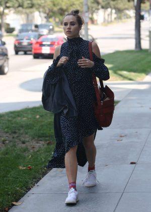 Suki Waterhouse in Summer Dress out in Los Angeles