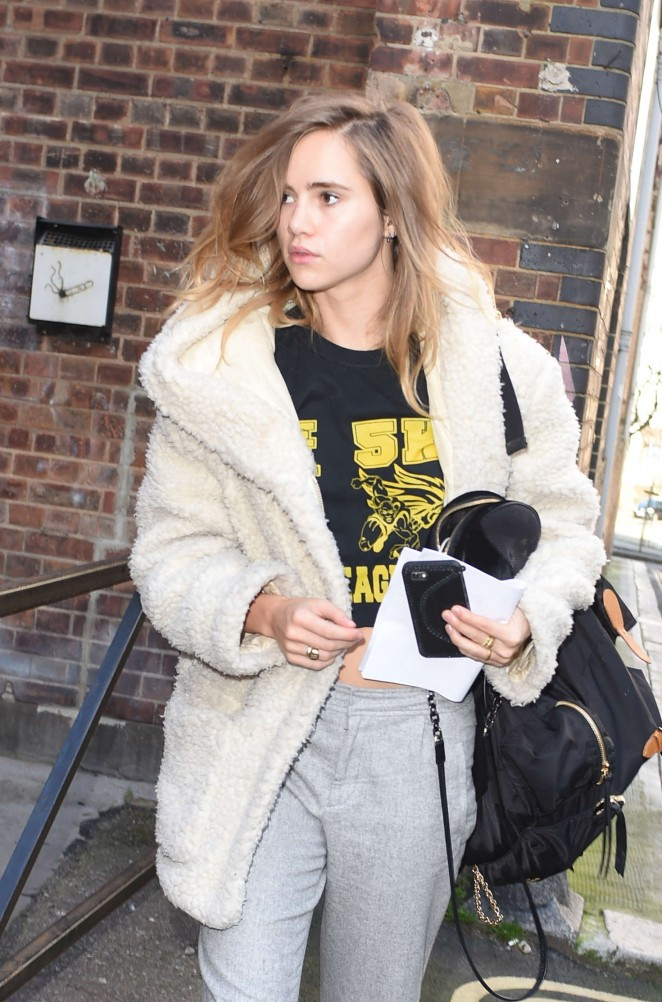 Suki Waterhouse Leaving Claridges Hotel in London