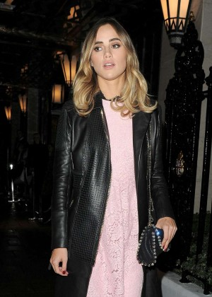 Suki Waterhouse - Leaving Claridges Hotel in London