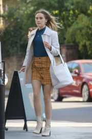 Suki Waterhouse - On set of 'Creation Stories' in London