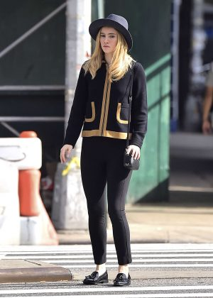 Suki Waterhouse Out in Soho Channelling in NY