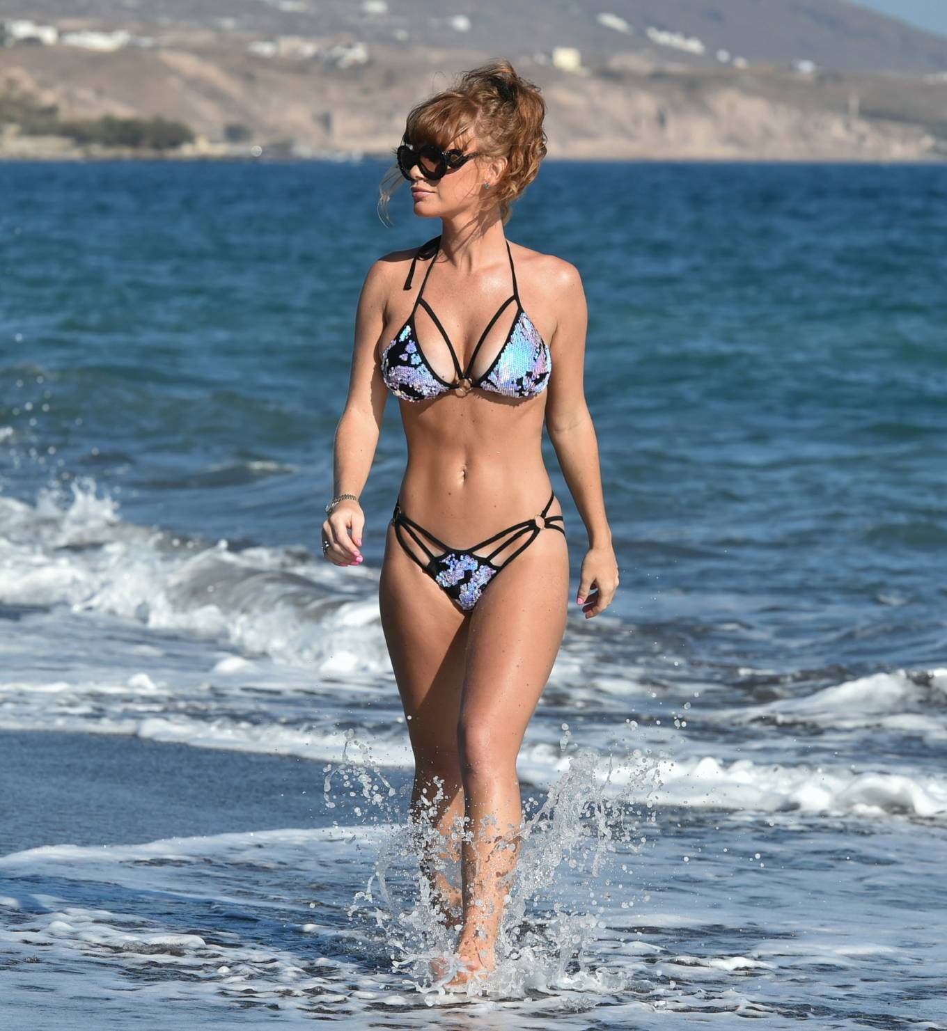 Summer Monteys-Fullam - Spotted in a bikini on the beach in Tenerife