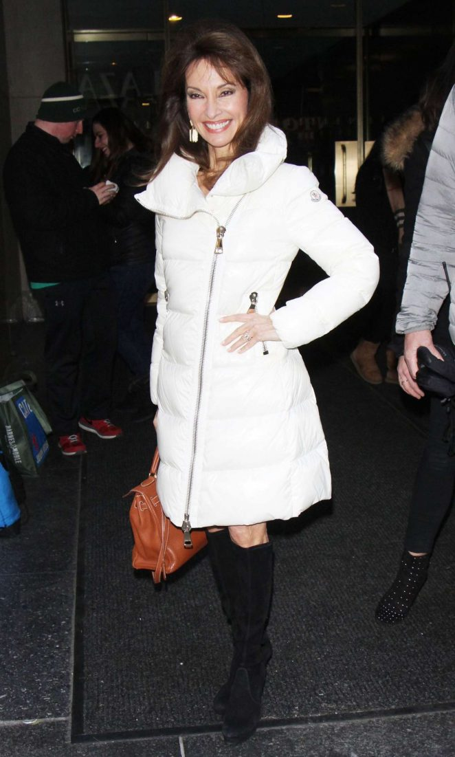 Susan Lucci in White Coat Out in New York