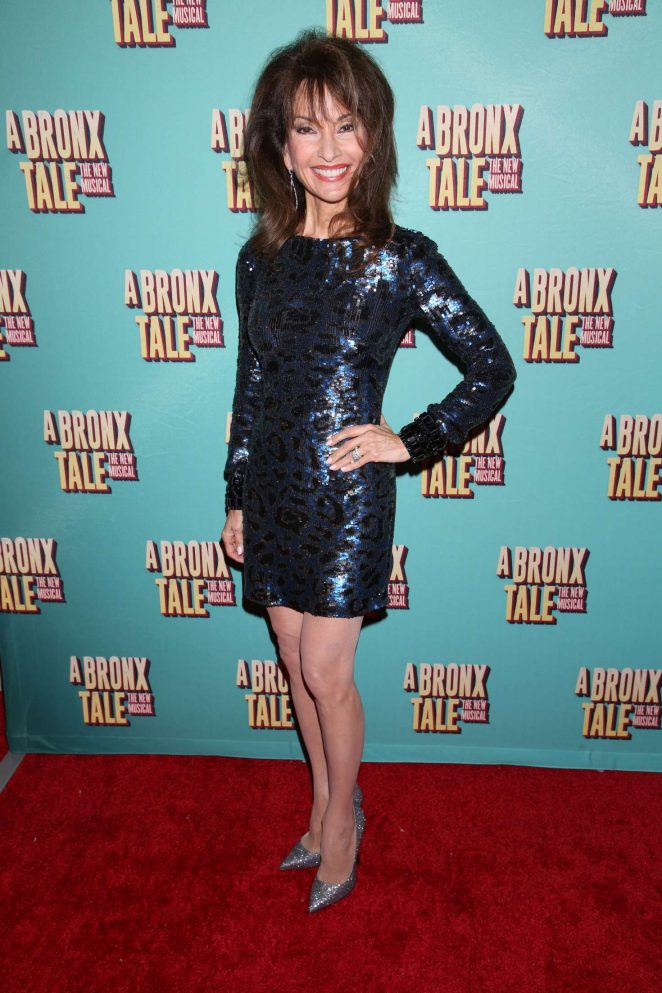 Susan Lucci - Opening night of A Bronx Tale at the Longacre Theatre in NY
