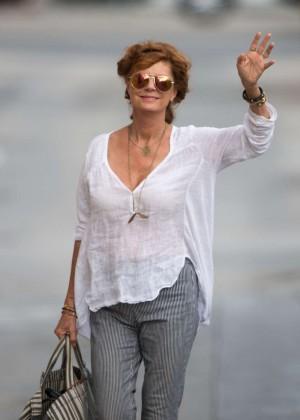 Susan Sarandon - Arriving at 'Jimmy Kimmel Live' in Hollywood