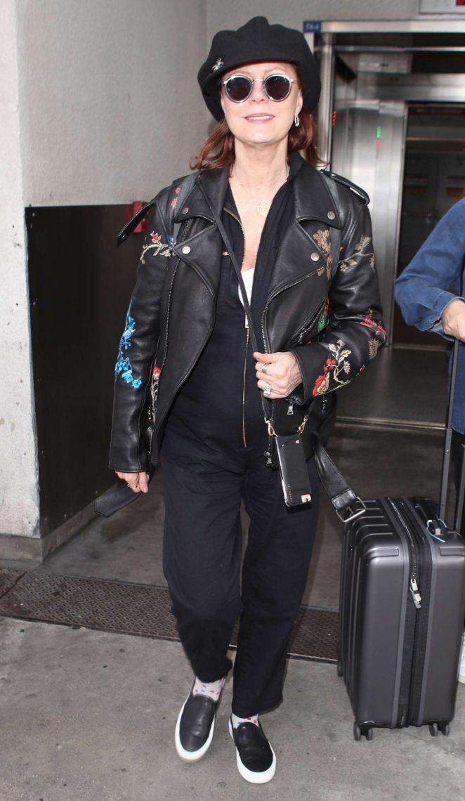 Susan Sarandon at LAX airport in Los Angeles