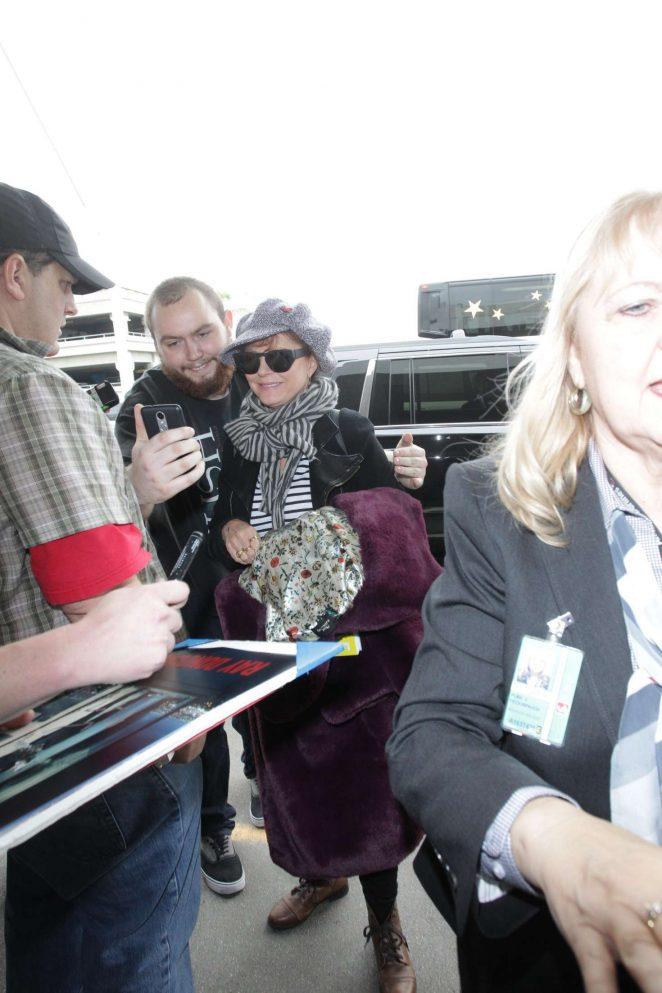 Susan Sarandon at LAX International Airport in Los Angeles