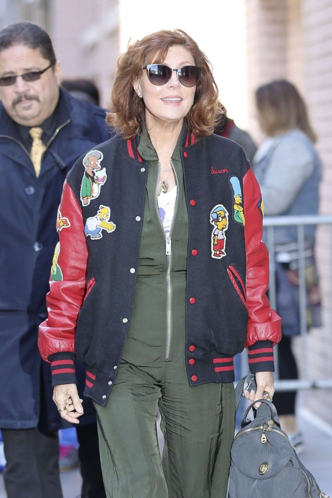 Susan Sarandon Leaves at 'The View' TV show in New York