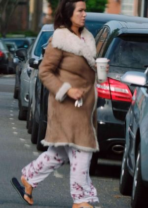Susanna Reid in Her Pyjamas out in London
