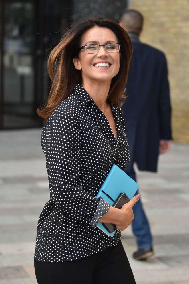 Susanna Reid - Outside ITV studios in London