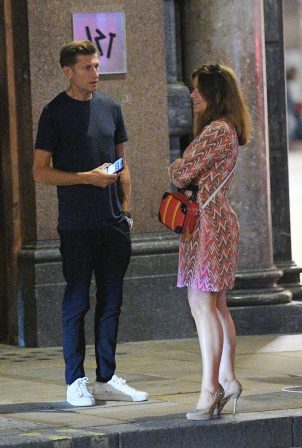 Susanna Reid with boyfriend Steve Parish in SOHO