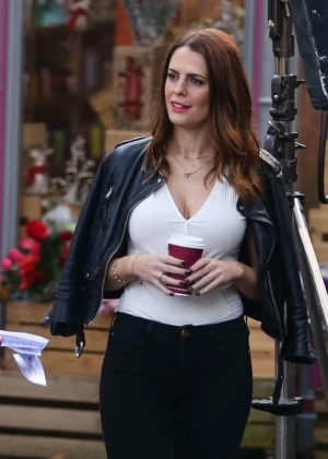 Susie Amy - Filming Hollyoaks Scenes on Set in Liverpool